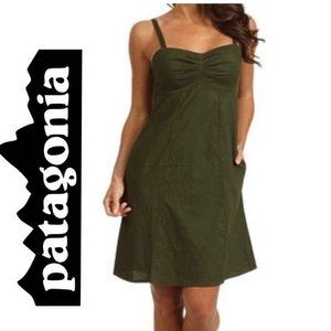 Patagonia Olive green Summertime dress sz 6